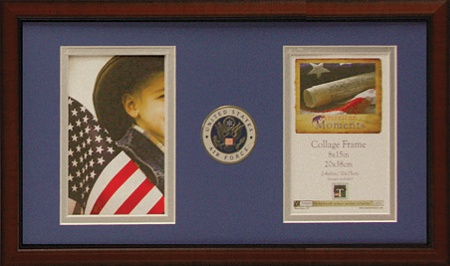 timeless frames american moments military collage frame 8 x 15 air force by office depot officemax - Military Picture Frames