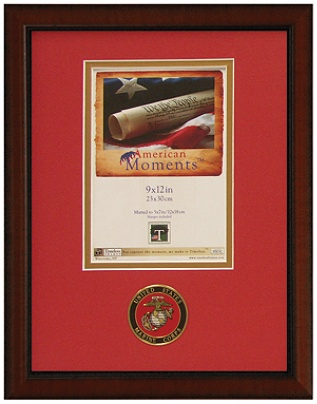 timeless frames american moments military frame 9 x 12 marine corps by office depot officemax - Military Frames