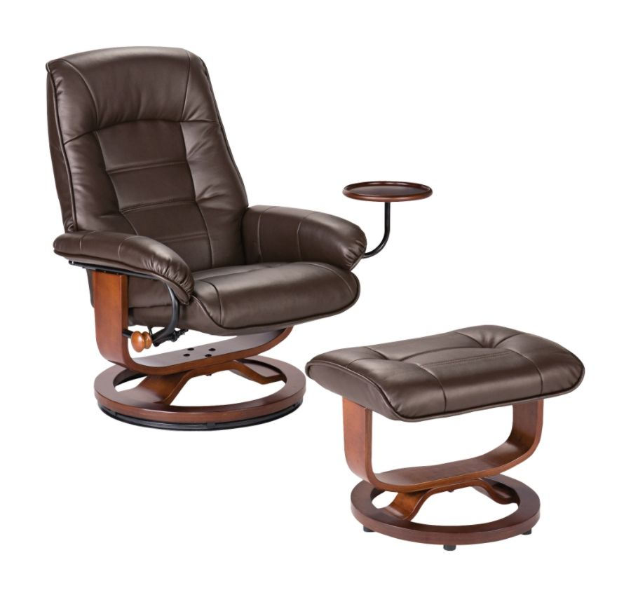 Southern Enterprises Bay Hill Leather Reclining Chair And Ottoman Set Caf eacute Brown by Office Depot u0026 OfficeMax  sc 1 st  Office Depot & Southern Enterprises Bay Hill Leather Reclining Chair And Ottoman ... islam-shia.org