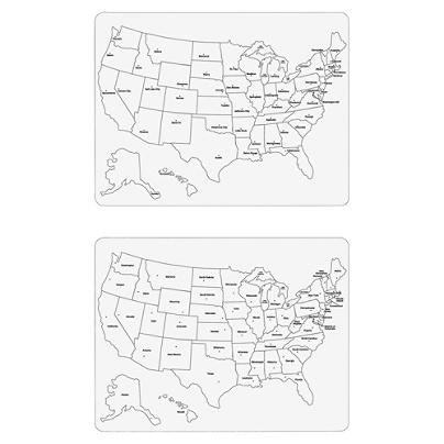 ChenilleKraft Large USA Map Whiteboard United States Width X - Us map whiteboard