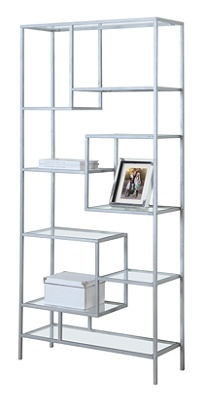 Monarch Specialties Asymmetrical 9 Shelf Bookcase Mouse Over To Zoom