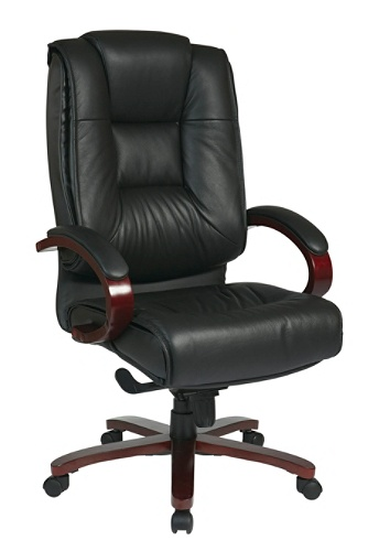 Office Star Pro Line Deluxe High Back Executive Leather Chair 46 ...