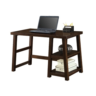 Whalen Triton Desk Walnut by Office Depot OfficeMax