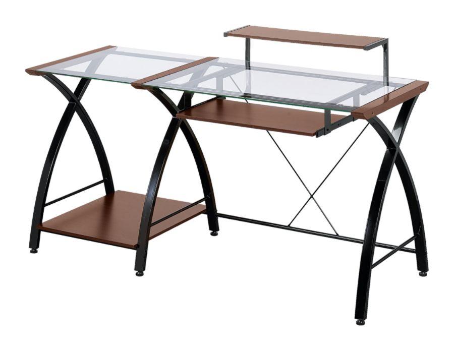 Z Line Designs Brisa Glass Computer Desk 36 H X 61 W X 24 D Cherry By Office  Depot U0026 OfficeMax