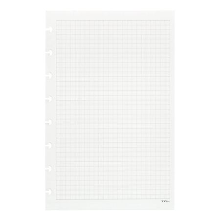 Number Names Worksheets 1 2 in graph paper : TUL Custom Note Taking System Discbound Refill Pages 5 12 x 8 12 ...