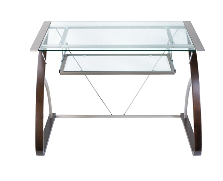 Reale Merido Computer Desk Espressosilver By Office Depot Officemax