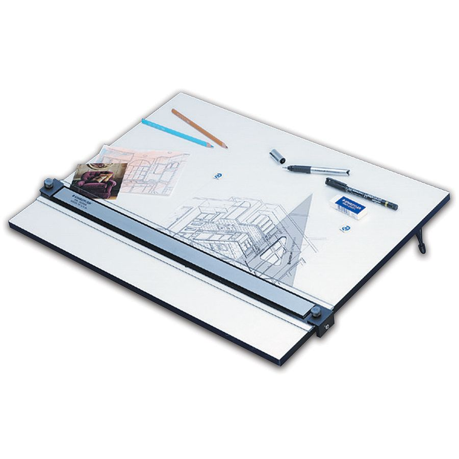 Staedtler Parallel Straight Edge Drawing Board 18 X 24 White By Office  Depot U0026 OfficeMax