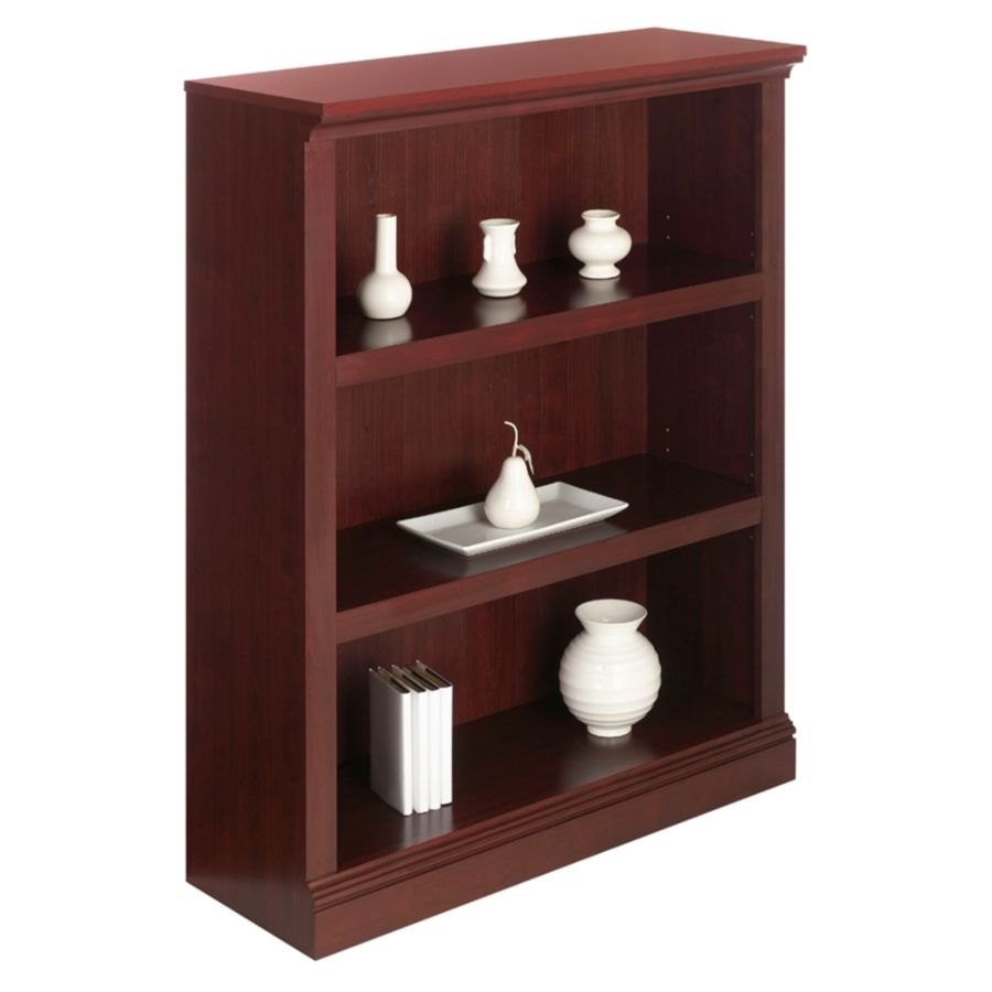 office depot bookcases wood. realspace premium bookcase 3 shelf classic cherry by office depot u0026 officemax bookcases wood a