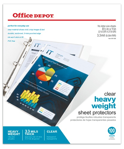 Buy Binder Sheet Protectors - Office Depot & OfficeMax