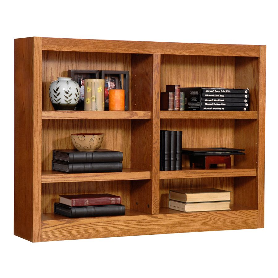 Concepts In Wood Double Wide Bookcase 6 Shelves Dry Oak By Office Depot U0026  OfficeMax