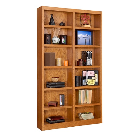 Concepts In Wood Double Wide Bookcase 12 Shelves Dry Oak By Office Depot Officemax