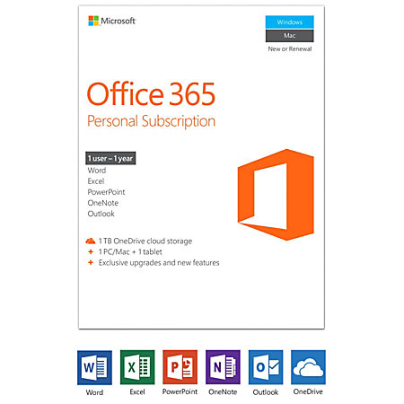 office 365 personal subscription product key