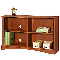 office depot shelves realspace dawson 2 shelf sofa bookcase brushed maple by 23910