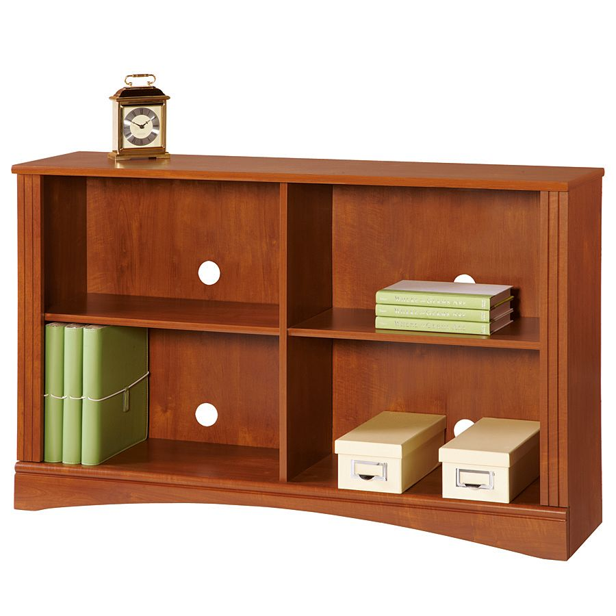 Realspace Dawson 2 Shelf Sofa Bookcase Brushed Maple By Office Depot U0026  OfficeMax