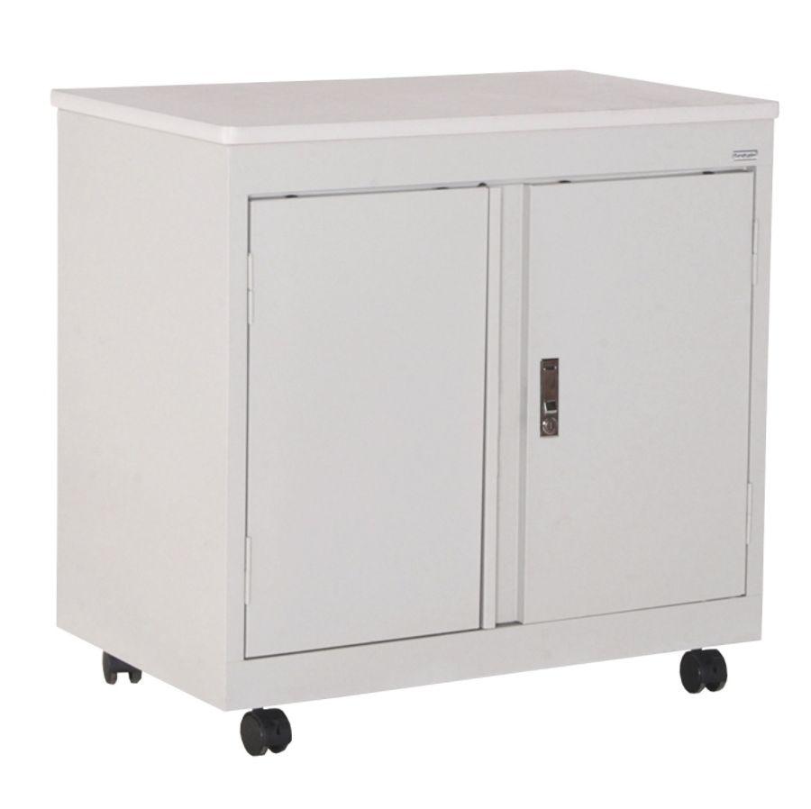 Sandusky Steel Mobile Utility Cabinet Dove Gray By Office Depot U0026 OfficeMax
