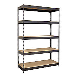 office depot shelves hirsh industries iron riveted steel shelving 48 w 23910