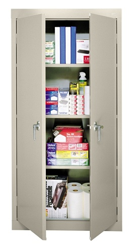 Sandusky 30 Steel Storage Cabinet With 3 Fixed Shelves Putty by Office  Depot & OfficeMax