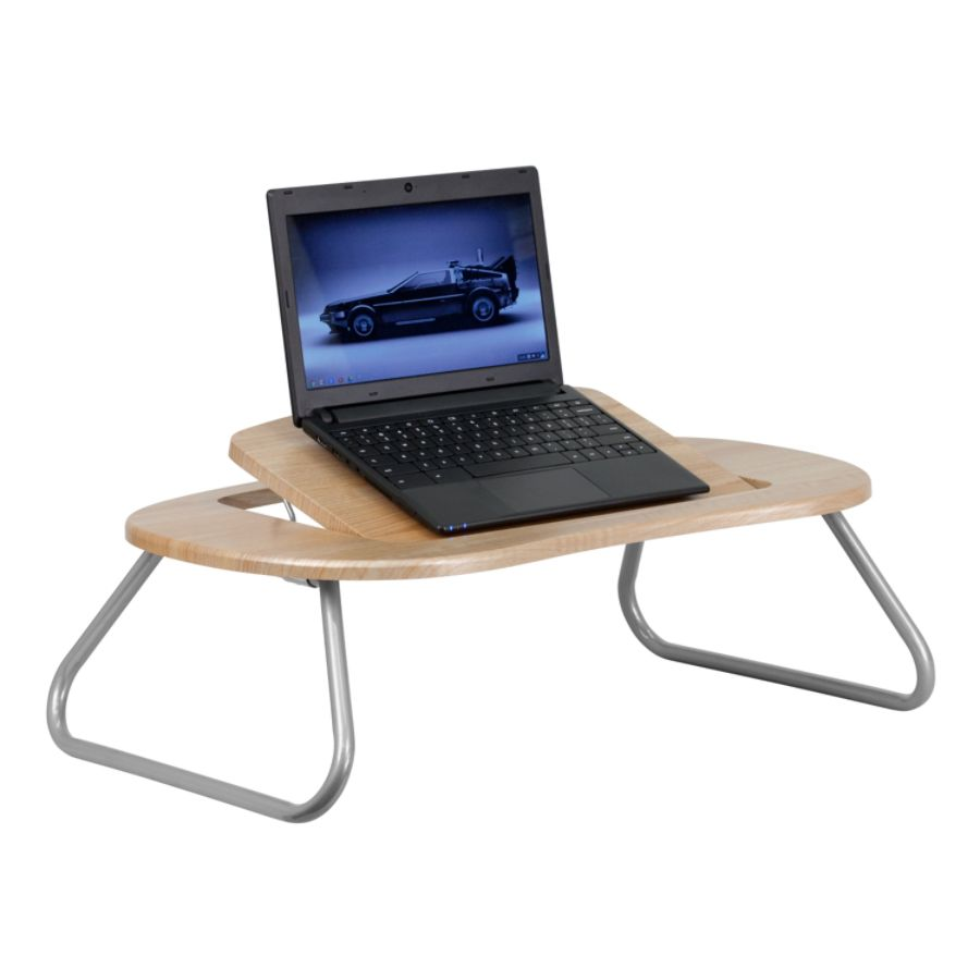 Flash Furniture Adjustable Laptop Computer Table Natural By Office Depot U0026  OfficeMax