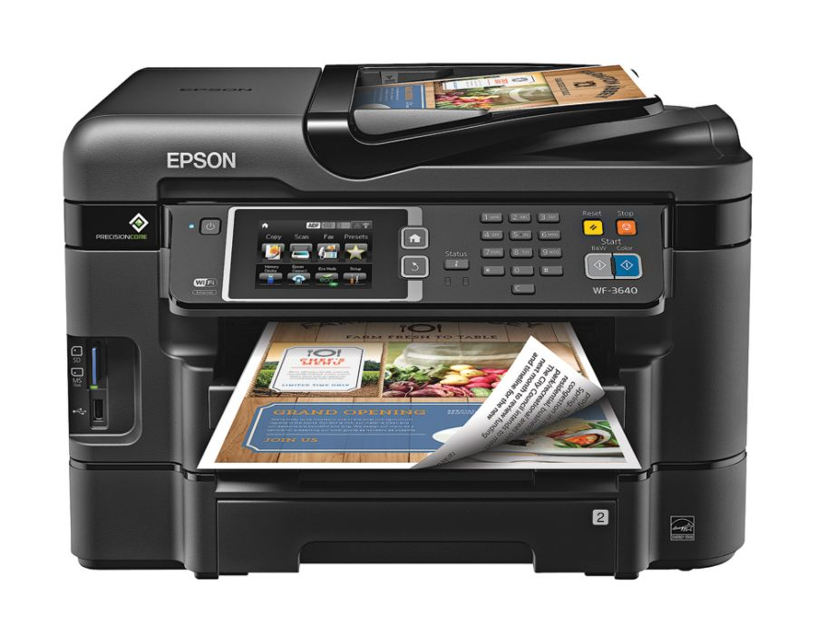 Epson WorkForce WF 3640 Wireless Color Inkjet All In One Printer Copier  Scanner Fax By Office Depot U0026 OfficeMax