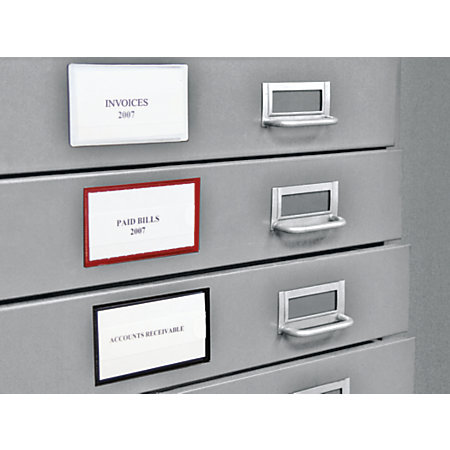 File cabinet label holders magnetic mf cabinets - Labels for kitchen cabinets ...