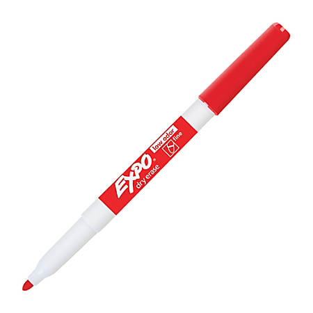 EXPO Low Odor Dry Erase Markers Fine Point Red Pack Of 12