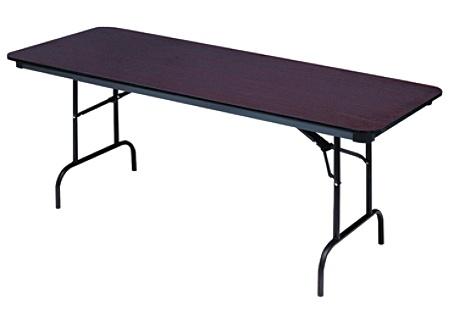 Iceberg Premium Wood Laminate Folding Table Rectangular 72 W x 30