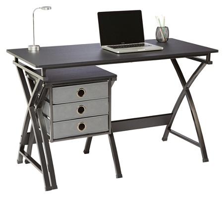 Brenton Studio X Cross Desk And File Set Black by Office Depot