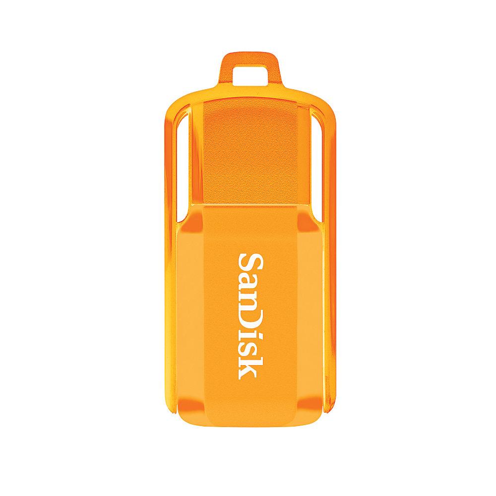 SanDisk Cruzer Switch USB 20 Flash Drive 16GB Neon Orange