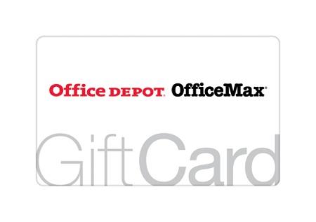 $100 Office Depot Standard Gift Card