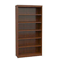 office depot shelves office stor plus bookcase 5 shelf executive cherry by 23910