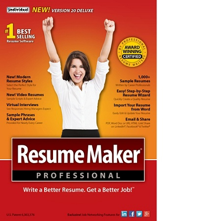 resumemaker professional deluxe 20 download version by office depot officemax - Professional Resume Maker