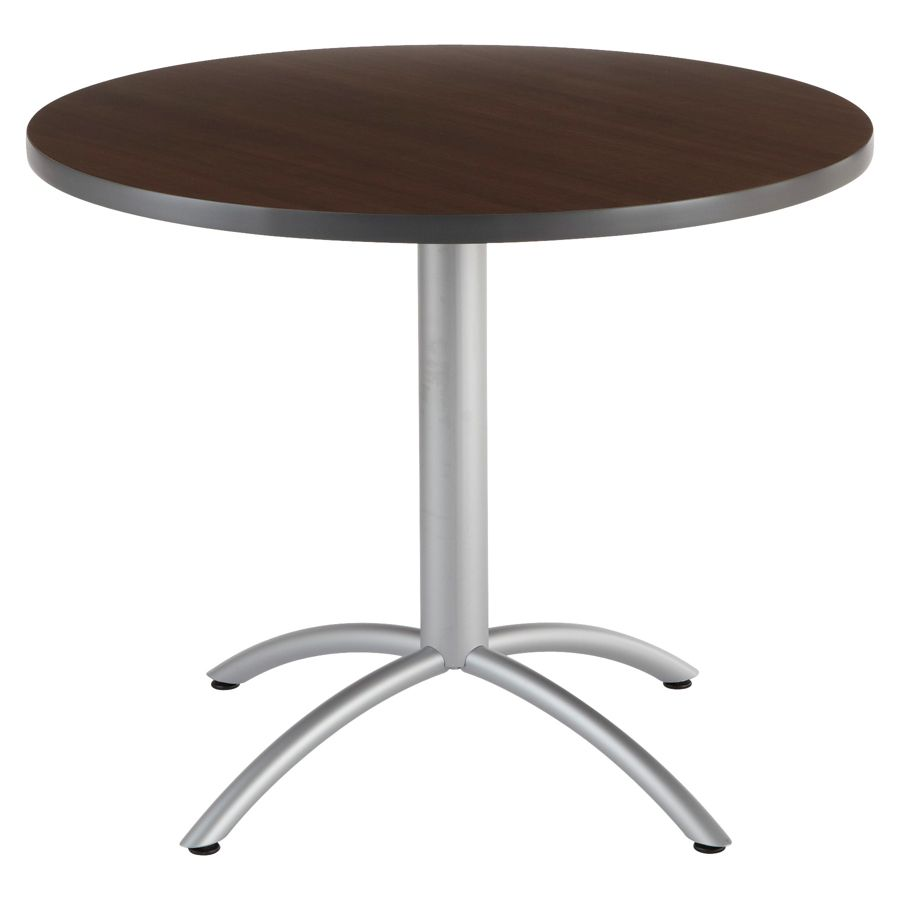 Iceberg CafeWorks Cafe Table Round 30 H X 36 W Walnut By Office Depot U0026  OfficeMax