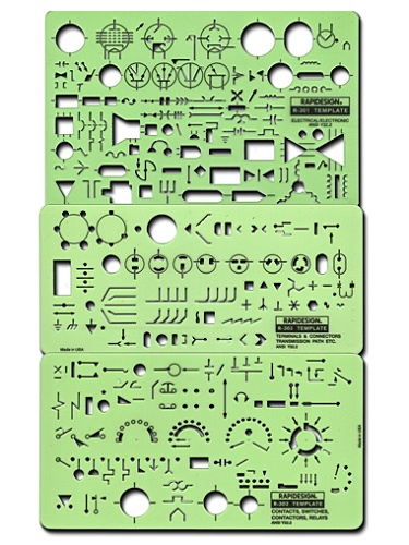 Rapidesign electrical drafting and design templates rapidesign electrical drafting and design templates electricalelectronic set of 3 by office depot officemax yelopaper Image collections