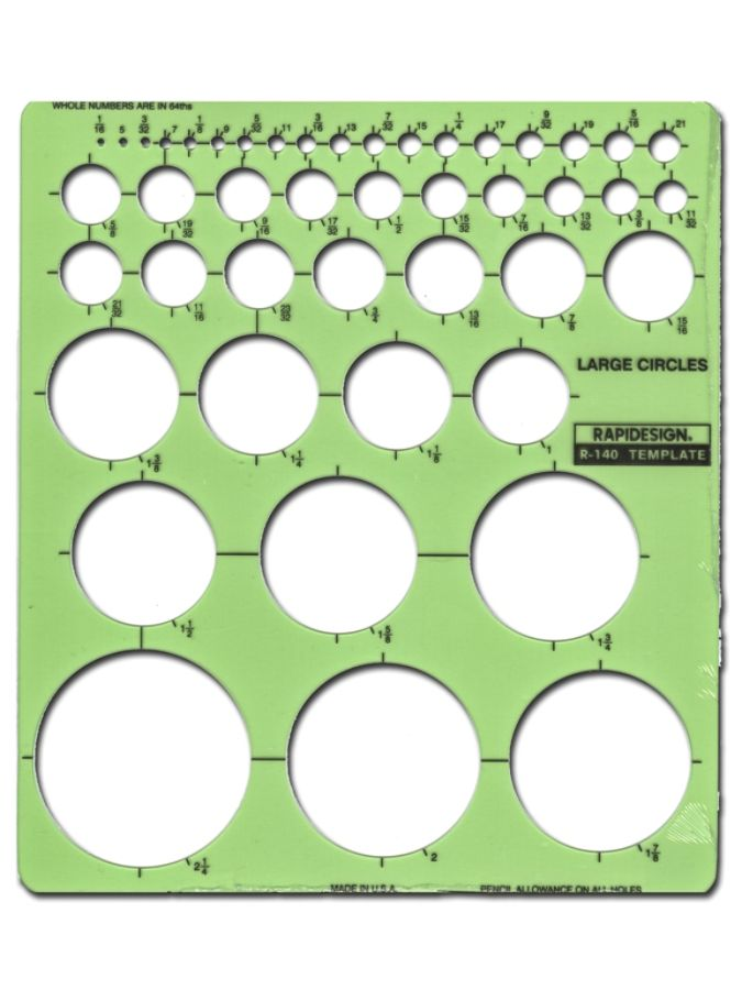 Rapidesign Circle Drafting Template Large Circles by Office Depot ...