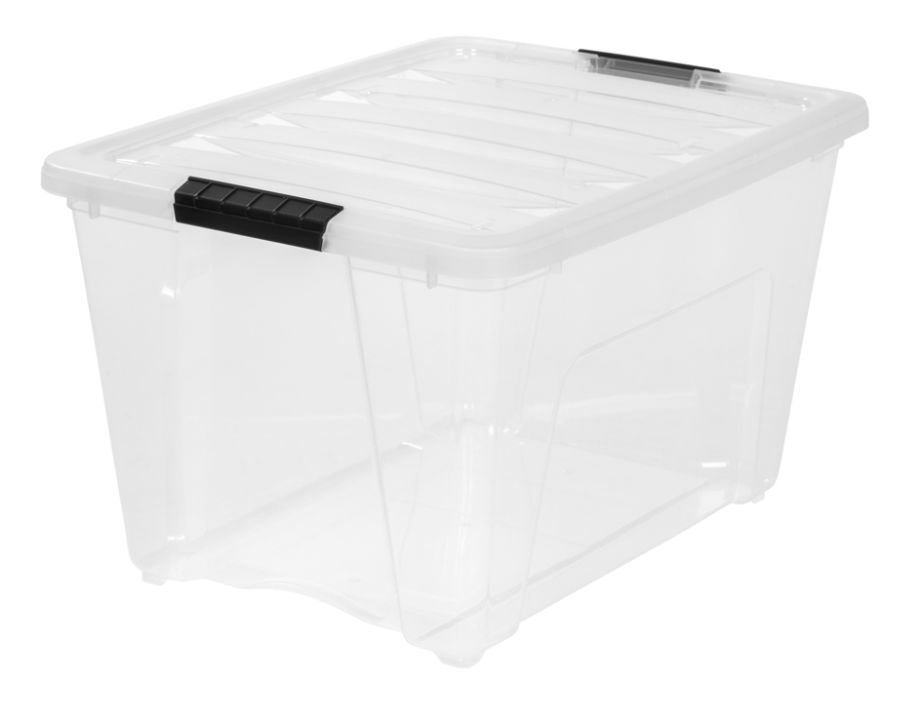plastic storage bins. iris latch plastic storage bin 53.6 qt 22 x 16 12 13 clear by office depot \u0026 officemax bins