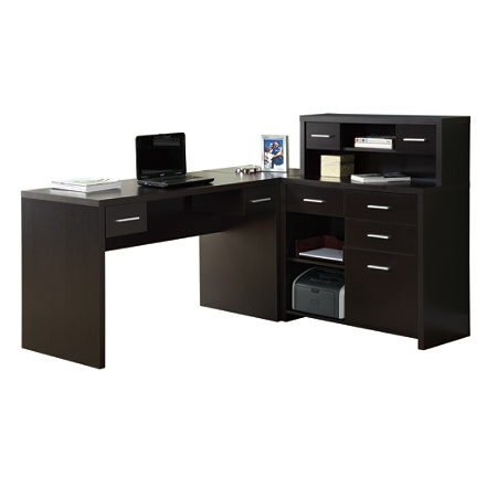 Monarch Specialties L Shaped Computer Desk 44 X 63 59 Cuccino By Office Depot Officemax
