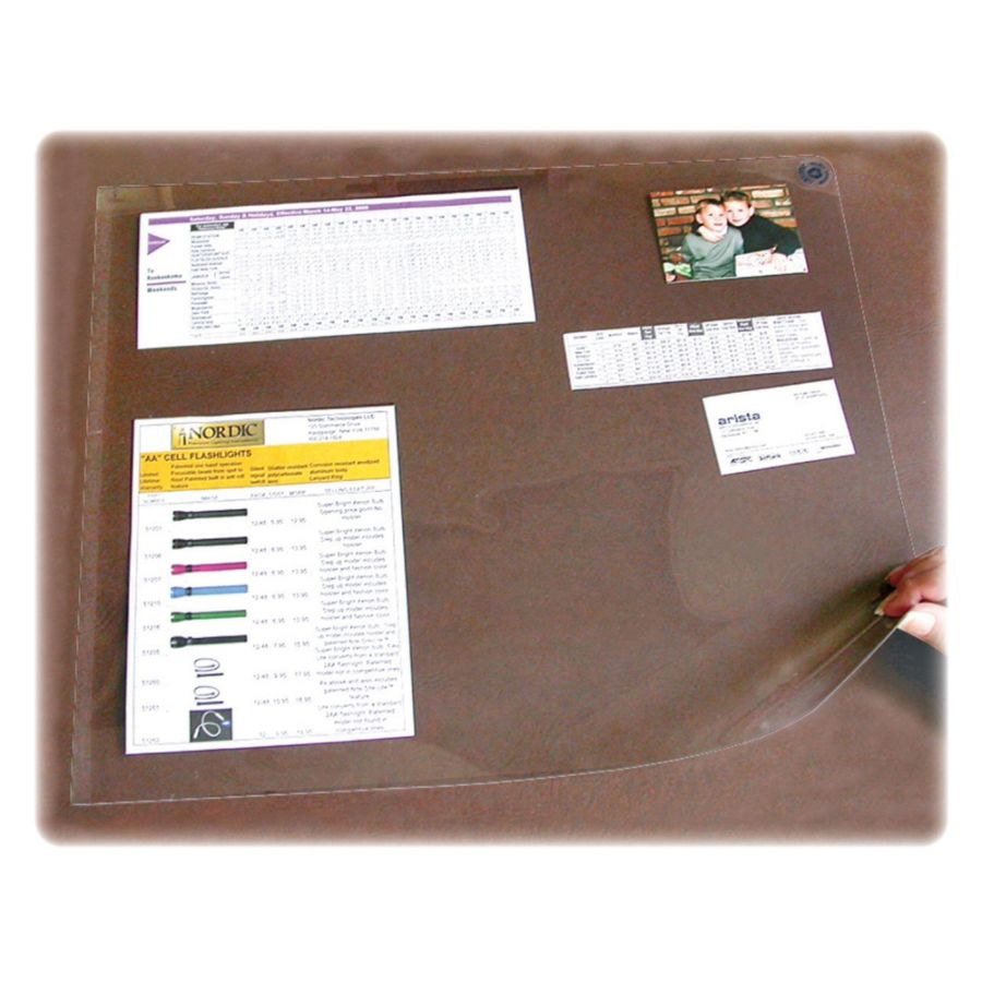 artistic second sight clear desk protectors rectangle 36 width plastic clear by office depot u0026 officemax