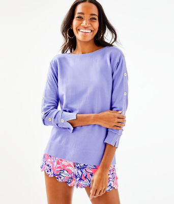 Milton Boatneck Sweater, Blue Hyacinth, large
