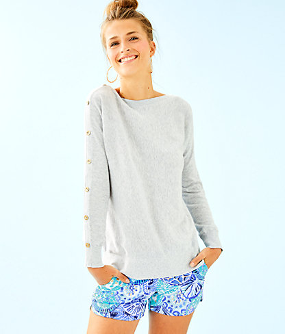 Milton Boatneck Sweater, Heathered Seaside Grey, large