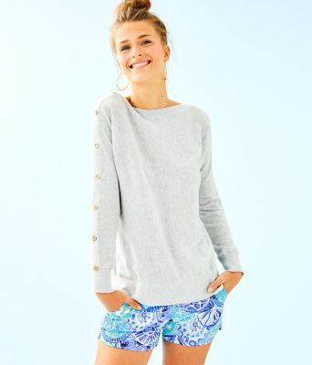 Milton Boatneck Sweater, Heathered Seaside Grey, large