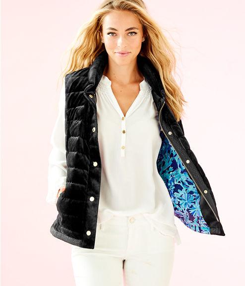 Iliana Puffer Vest, Onyx, large