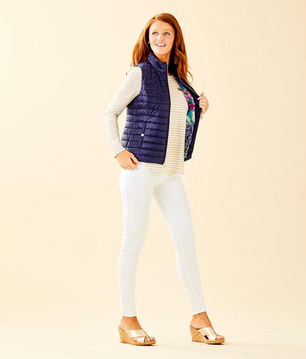 Elyn Puffer Vest, True Navy, large