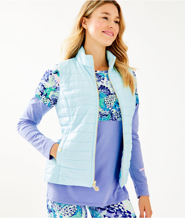 Elyn Puffer Vest, Whisper Blue, large