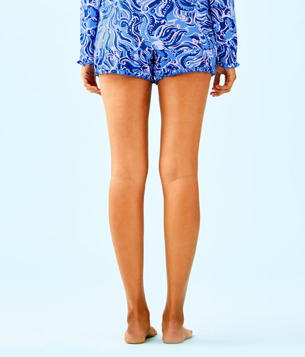 "4"" Ruffle Pj Knit Short, Coastal Blue Whispurr, large"
