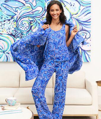 """30"""" Pj Knit Pant, Coastal Blue Whispurr, large 4"""