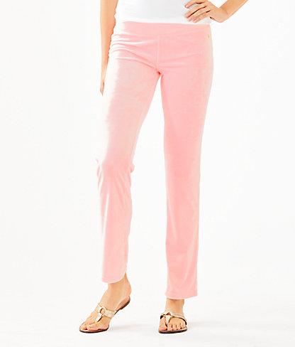 """33"""" Jordynne Velour Pant, Pink Tropics Tint, large 0"""