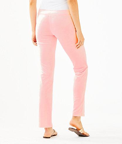 """33"""" Jordynne Velour Pant, Pink Tropics Tint, large 1"""