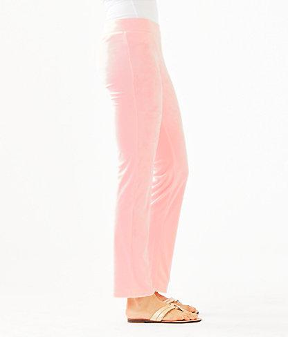 """33"""" Jordynne Velour Pant, Pink Tropics Tint, large 2"""