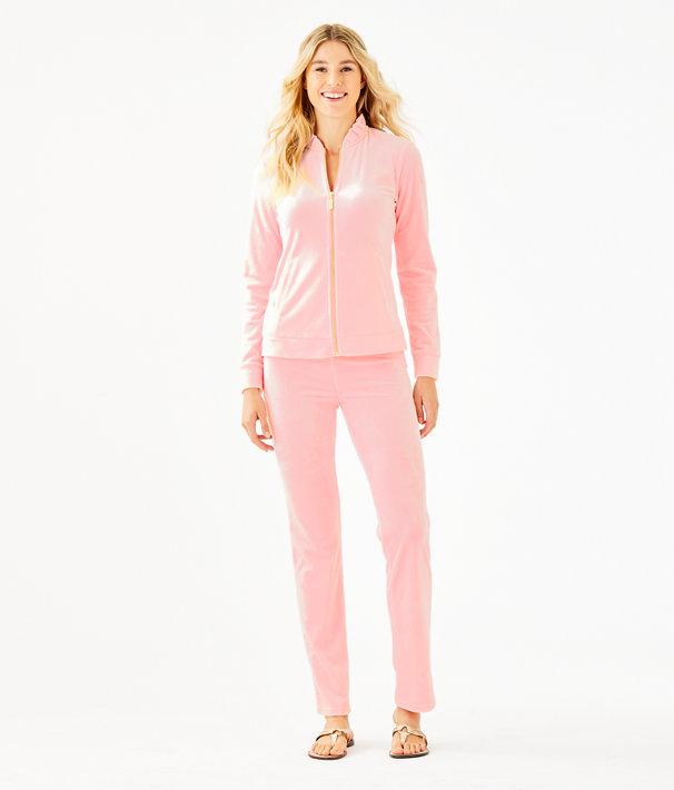 """33"""" Jordynne Velour Pant, Pink Tropics Tint, large"""