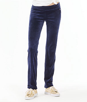 "33"" Jordynne Velour Pant, True Navy, large"
